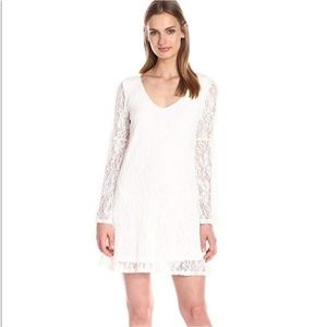 NORDSTROM Socialite Ivory Lace Overlay Shift Dress